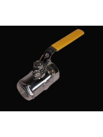 """Ball Valve, Polished Stainless 1"""""""