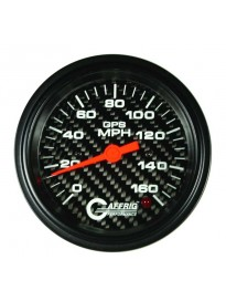 "3 3/8"" GPS Analog Speedo Head Carbon"