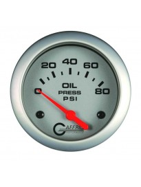 "2 5/8"" Electric Oil Pressure 0-80PSI Whi"