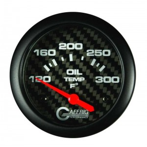 "2 5/8"" Electric Oil Temp 120-300F Carbon"