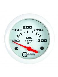 "2 5/8"" Electric Oil Temp 120-300F White"