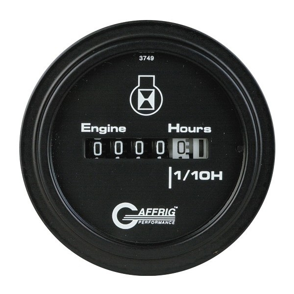 White Hour Meter : Inch electric engine hour meter monster marine store